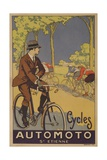 Cycles Automoto St Etienne French Advertising Poster Reproduction procédé giclée