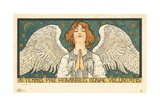 In Terris Pax Hominibus Bonae Voluntatis Postcard Giclée-tryk
