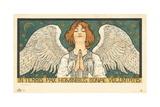 In Terris Pax Hominibus Bonae Voluntatis Postcard Giclée-Druck