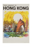 The Orient Is Hong Kong Travel Poster Giclée-Druck