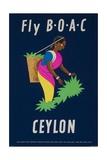 Fly Boac Ceylon Travel Poster Giclée-Druck