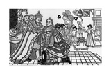 Print of Prince Charles Arriving at the Spanish Court Giclee Print