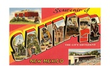 Souvenir of Santa Fe, New Mexico, the City Different Giclee Print
