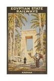 Egyptian State Railways Travel Poster Karnak Giclée-Druck