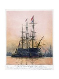 The Last Journey of Hms Victory Stampa giclée