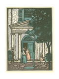 Woodcut of Meeting Hall Giclee Print