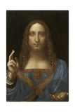 Salvator Mundi Attributed to Leonardo Da Vinci Lámina giclée