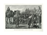 The Slave Trade in Africa: a Gang on the March Giclee Print