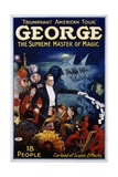 George the Supreme Master of Magic Poster Giclee Print