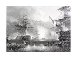 The Bombardment of Algiers Giclée-tryk