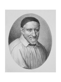 Portrait of Saint Vincent De Paul Giclée-tryk