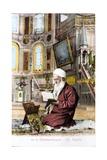 Man Reading Koran in Hagia Sofia Giclee-trykk
