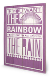 Rainbow Wood Sign Cartel de madera por Sarah Winter