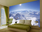 Alpen Berggipfel mit Schnee Fototapete Wandgemälde