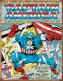 Captain America Comic Cover Tin Sign Placa de lata