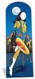 Female superhero Stand In Pappfigurer