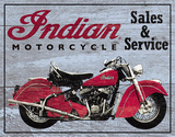 Indian Motorcycles Sales and Service Tin Sign Placa de lata