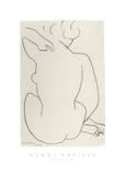 Nu Accroupi de Dos Plakater av Henri Matisse