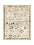 Geometric Chart I Reproduction giclée Premium par Hugo Wild