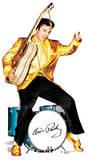 Elvis Gold and drums Silhouettes découpées en carton