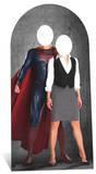 Superman and Lois Lane Stand In Silhouettes découpées en carton