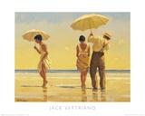 Strandtafereel met parasols, Mad Dogs Schilderijen van Vettriano, Jack