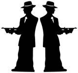 Gangster Silhouette - Double Pack Imagen a tamaño natural