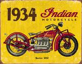 1934 Indian Motorcycles Tin Sign Tin Sign
