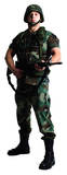 US Soldier Pappfigurer