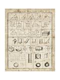 Geometric Chart II Stampa giclée premium di Hugo Wild