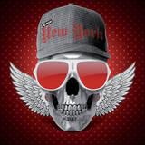 Red Skull NY Art par  Blonde Attitude