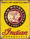 Motocicletas Indian, desde 1901 Placa de lata