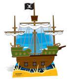 Pirate ship Pappfigurer
