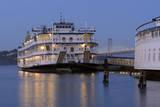 Paddle Wheeler, Bay Bridge at Pier 7 , Embarcadero, San Francisco, Usa Photographic Print by Christian Heeb
