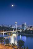 View of New Bridge at Dusk, Bratislava, Slovakia Photographic Print by Ian Trower