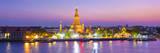 Temple of Dawn (Wat Arun) and Bangkok, Thailand Photographic Print by Jon Arnold