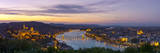 Elevated View over Budapest and the River Danube Illuminated at Sunset, Budapest, Hungary Photographic Print by Doug Pearson