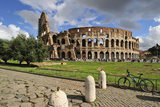 The Colosseum or Coliseum and a Roman Stone Pavement, Rome, Italy Photographic Print by Mauricio Abreu
