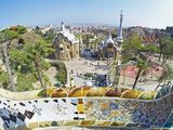 Park Guell, Barcelona, Catalonia, Spain, Europe Fotografie-Druck von Marco Simoni