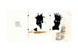 Self-portrait Giclée-tryk af Jean-Michel Basquiat