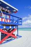 Lifeguard Hut, South Beach, Miami, Florida, U.S.A Lámina fotográfica por Marco Simoni