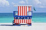 Lifeguard Station, South Beach, Miami, Florida, Usa Lámina fotográfica por Marco Simoni