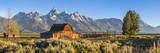 John Moulton Historic Barn, Mormon Row, Grand Teton National Park, Wyoming, Usa Fotografie-Druck von Peter Adams