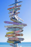 Directions Signpost Near Seaside, Key West, Florida, Usa Fotografisk trykk av Marco Simoni