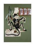Sacred Ape Reproduction procédé giclée par Jean-Michel Basquiat