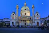 Karlskirche (St. Charles's Church), Vienna, Austria Fotografie-Druck von Ivan Vdovin