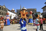 Traditional Big-Headed Masks of Minho at the Historical Centre of Viana Do Castelo Stampa fotografica di Mauricio Abreu