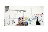 Revised Undiscovered Genius of the Mississippi Delta Giclée-tryk af Jean-Michel Basquiat