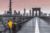 Brooklyn Bridge Umbrella Posters par Assaf Frank