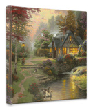 Stillwater Cottage Custom Stretched Canvas Print by Thomas Kinkade
